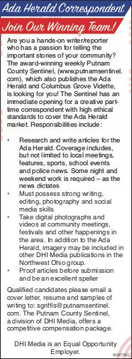 Display ad for: Ada Herald Reporter