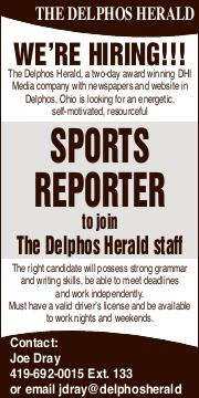 Display ad for: Delphos Herald Stringer