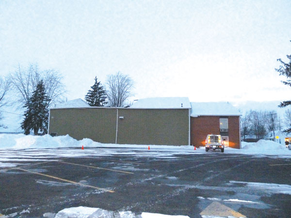 This photo shows the collapsed roof at the ROC at Delphos First Assembly of God. The roof collapsed this past Sunday due to the weight of the snow on it. Van Wert County EMA Director Rick McCoy cautioned local residents Friday about possible roof collapses due to a build up of ice and snow. (DHI File Photo)