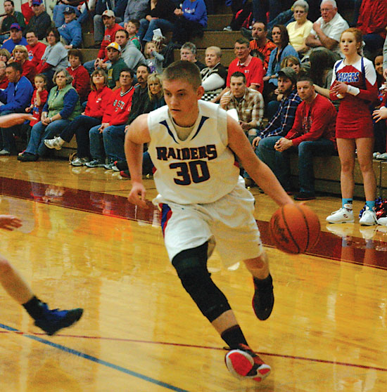 Junior guard Corbin Linder led Wayne Trace, averaging nearly 16 points per game during the regular season. Corbin and freshman Ethan Linder were both named all-District 7 first team in Division IV. (TB file photo)