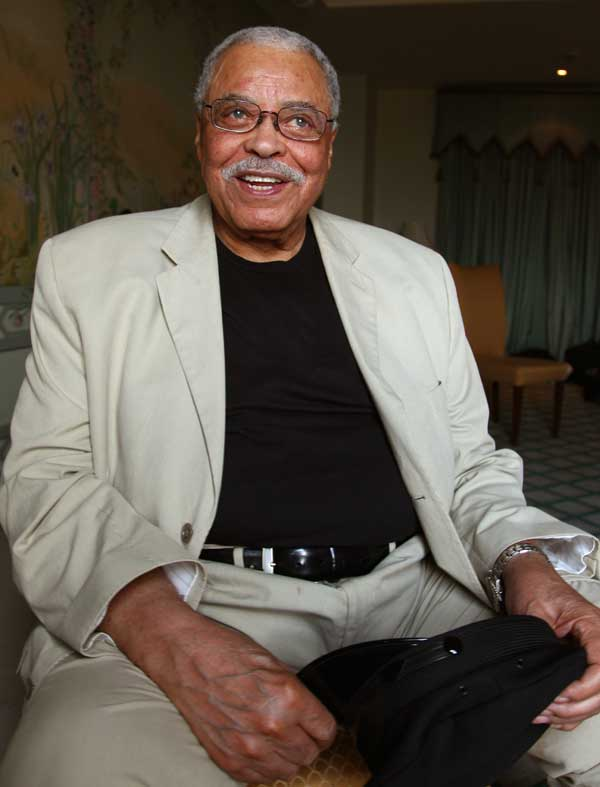 "FILE - This Jan. 7, 2013 file photo shows actor James Earl Jones in Sydney, Australia. Jones is coming back to Broadway in a play that'??s almost as old as he is. The 87-year-old two-time Tony Award-winner will star in a fall revival of ""You Can'??t Take It With You,""? the 1936 comedy about a wealthy uptight family meeting an off-kilter one was written by Moss Hart and George S. Kaufman. Scott Ellis will direct. Previews will begin in August, with official opening set for Sept. 28 at a theater to be announced. (AP Photo/Rick Rycroft, File)"