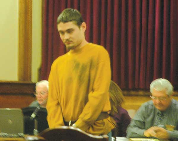 Seth Bierley was sentenced Wednesday in Van Wert Court of Common Pleas on three counts of breaking and entering and one charge of failure to appear. (DHI Media/Ed Gebert)