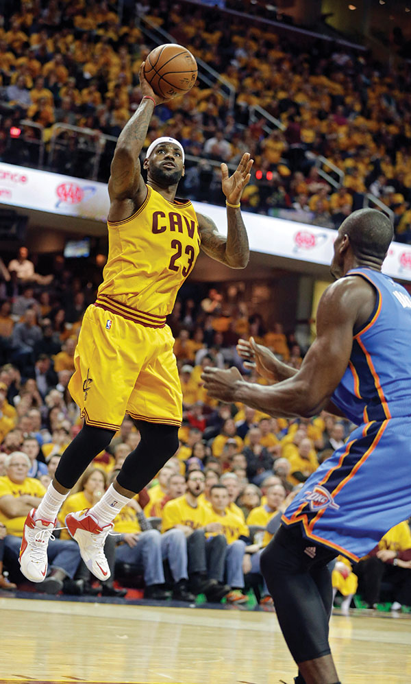 LeBron scores 34, Cavs win 6th straight, 108-98 over Thunder