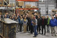 Lincolnview staff visits local businesses