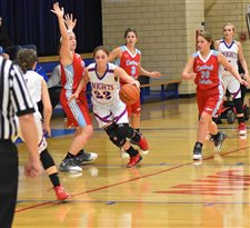 Lady Knights get defensive, roll to win over LCC