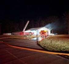 Fire departments respond to airplane hangar fire