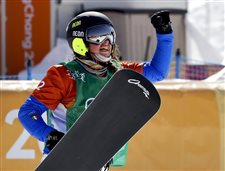 Italy's Moioli wins snowboardcross; Jacobellis finishes 4th