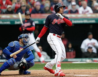 Brantley leads Indians to 3-2 win over KC