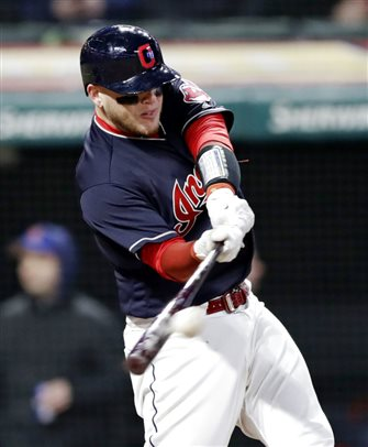 Perez's homer in 8th leads Indians past Tigers 2-1