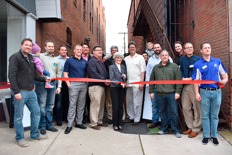 A ribbon cutting was held on Friday for the Former Mayor Eugene Bagley Alley. (DHI Media/Kirsten Barnhart)