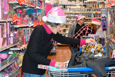 Members of Babes Out On Bikes were part of the group helping to buy Christmas items for children. (DHI Media/Sherry Missler)