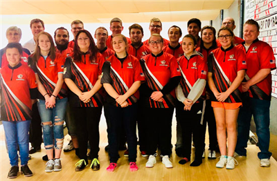 Van Wert bowling pictured with their jerseys donated by Van Wert Vision. Van Wert bowling will be joing the Western Buckeye League this winter season. (Van Wert Vision)