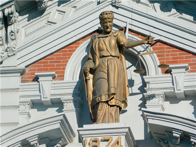 This statue sits on the Van Wert County Courthouse. (DHI Media/Jim Langham)
