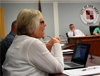 City Auditor Martha Balyeat speaks during the City Council meeting Monday evening. (DHI Media/Sherry Missler)